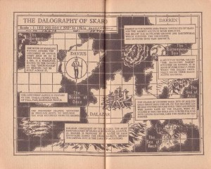 The Dalography of Skaro as illustrated in The Dalek Pocketbook and Space Travellers Guide (1965)